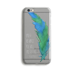 H129 - UNDER HIS WINGS Scripture phone case with Bible Verse for Christian teen