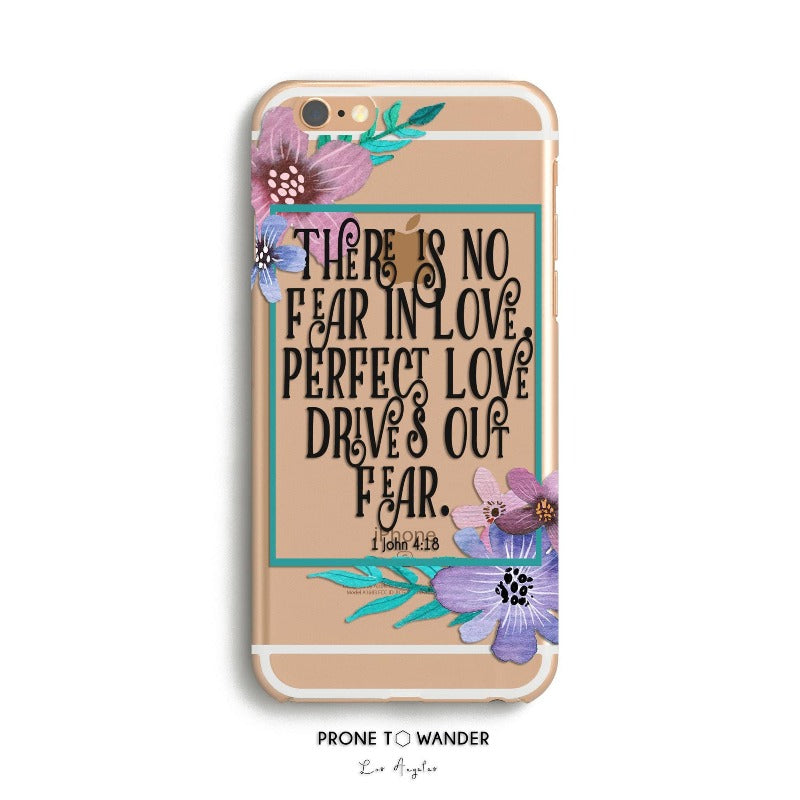 H135 - PERFECT LOVE - Scripture iPhone Protective Covers Christian Gift Idea