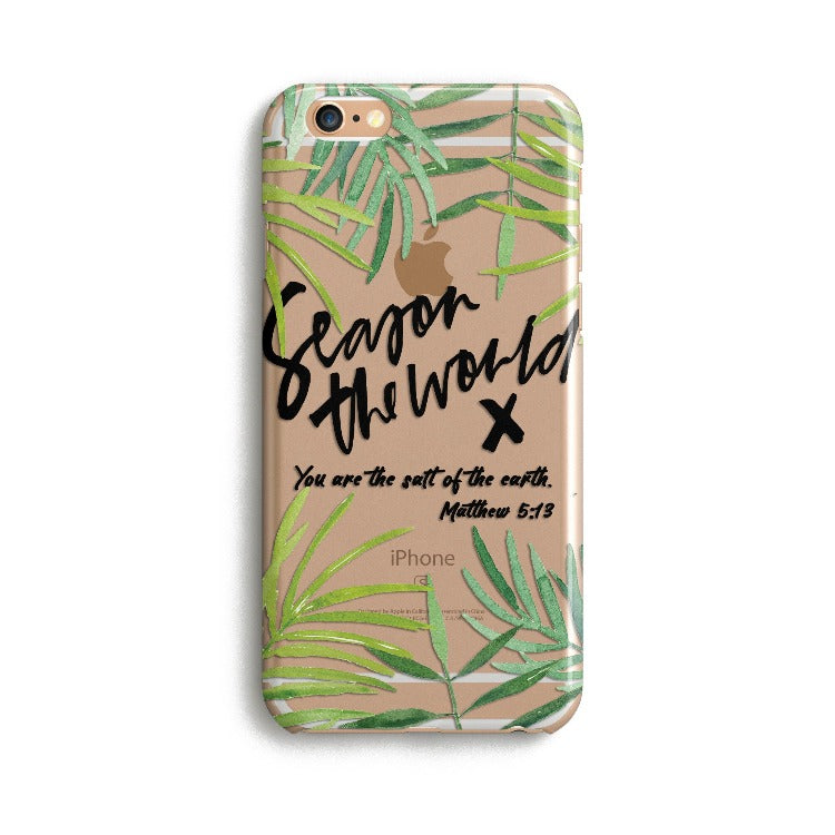 H147 - SEASON THE WORLD - Sea&Salt - Scripture iPhone Protective Covers Christian Gift Idea