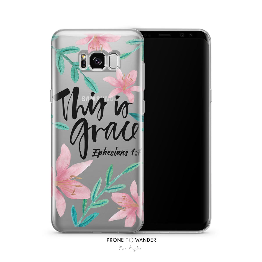 SAMSUNG H148 - THIS IS GRACE - Sea&Salt - Bible Verse Phone Case for Samsung Cover