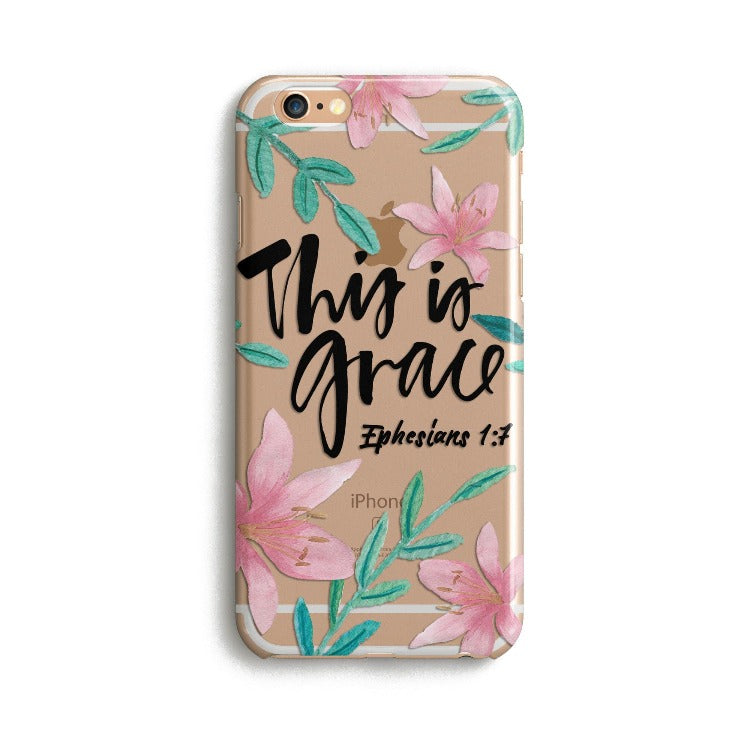 H148 - THIS IS GRACE - Sea&Salt - Bible Verse Phone Case for  iPhone Cover