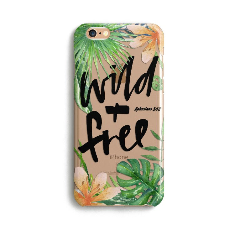 H149 - WILD AND FREE- Sea&Salt - Bible Verse Phone Case for Samsung and iPhone Cover