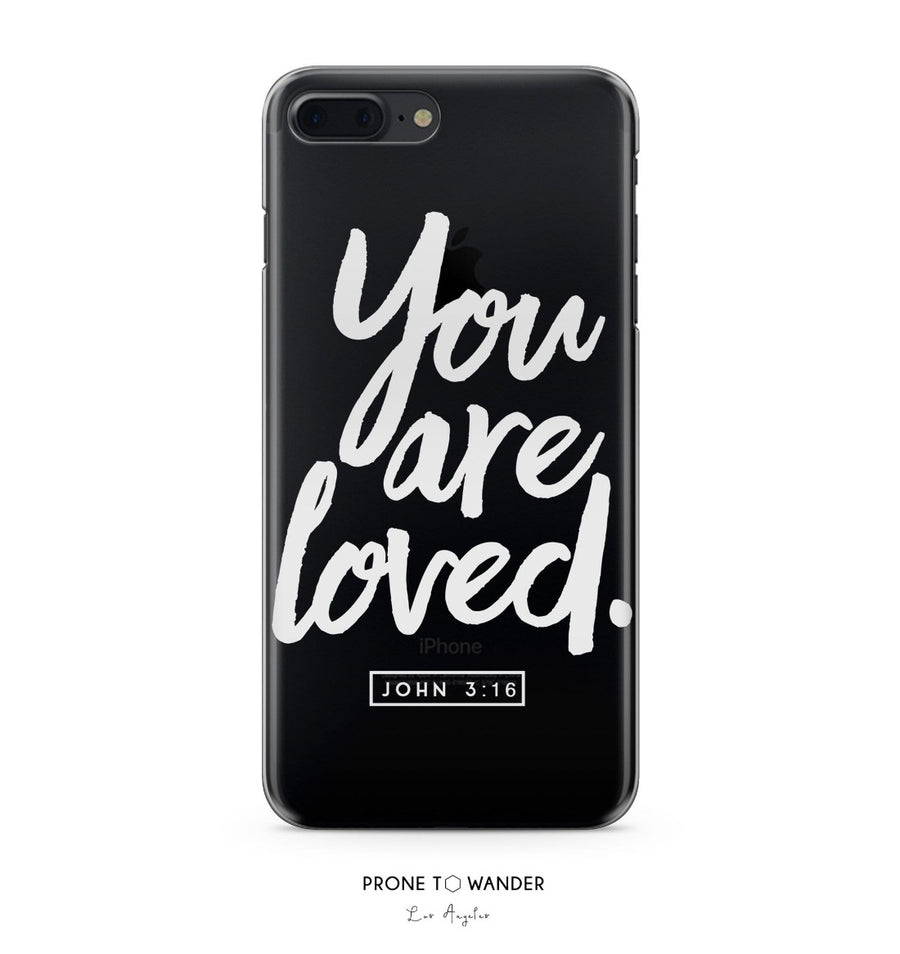 H177 - YOU ARE LOVED - John 3:16 - Bible Verse Christian Quote Phone Covers