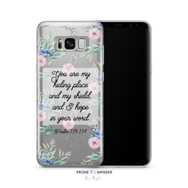 SAMSUNG H205 - YOU ARE MY HIDING PLACE -  Bible Verse Christian Quote Phone Covers