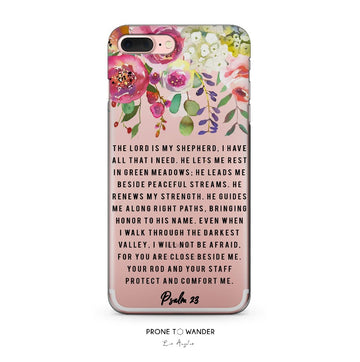 H246 - PSALM 23 - Bible Verse Christian Quote iPhone Covers