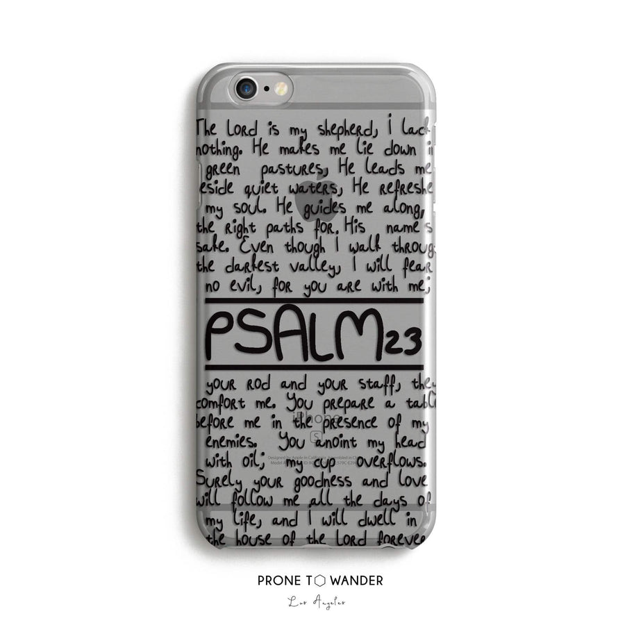 PSALM 23 - Clear Phone Case