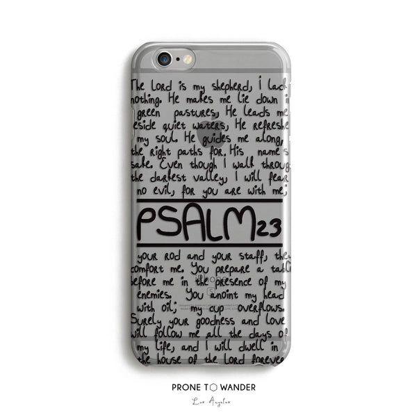 H28 - PSALM 23 Bible Verse iPhone Case Catholic phone covers