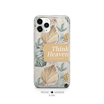THINK HEAVEN - Clear Phone Case