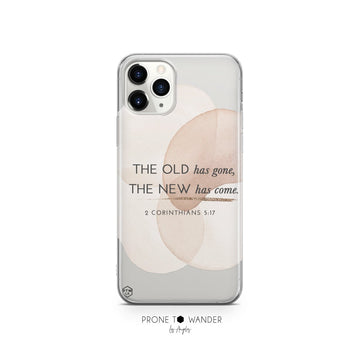THE OLD HAS GONE - Clear Phone Case