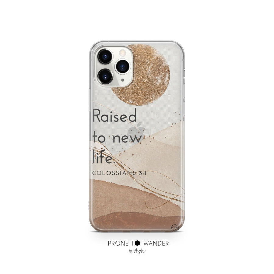 RAISED TO NEW LIFE - Clear Phone Case