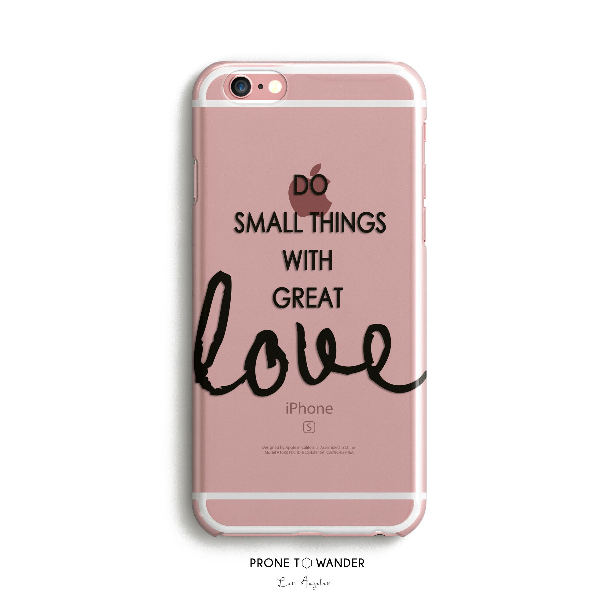 H43 - DO SMALL THINGS GREAT LOVE - Mother Theresa Motivational Quote Inspirational Sayings Phone Cover