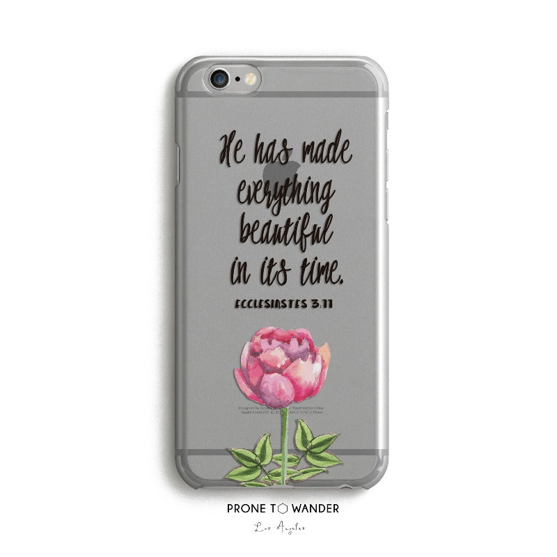 H67 - He has made everything beautiful in its time - Christian cell phone covers with Scripture Religious verse phone case