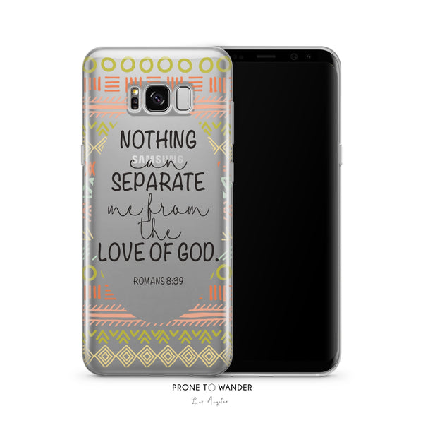 SAMSUNG H92 - NOTHING CAN SEPARATE - TPU Clear Transparent Christian Phone Case with Bible Verse Phone Cover