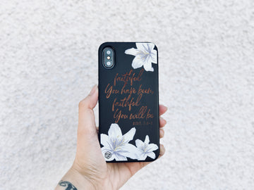 BLKSE239 - FAITHFUL YOU HAVE BEEN - Black Special Edition Wood Phone Case