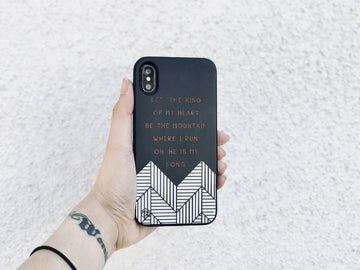 BLKSE242 - LET THE KING OF MY HEART - Black Special Edition Wood Phone Case