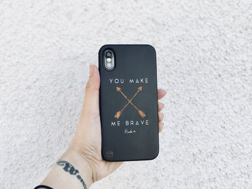 BLKSE243 - YOU MAKE ME BRAVE - Black Special Edition Wood Phone Case