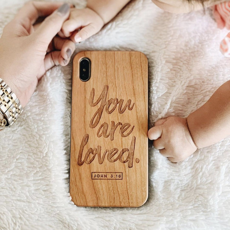 W203- YOU ARE LOVED in script - Wood Case