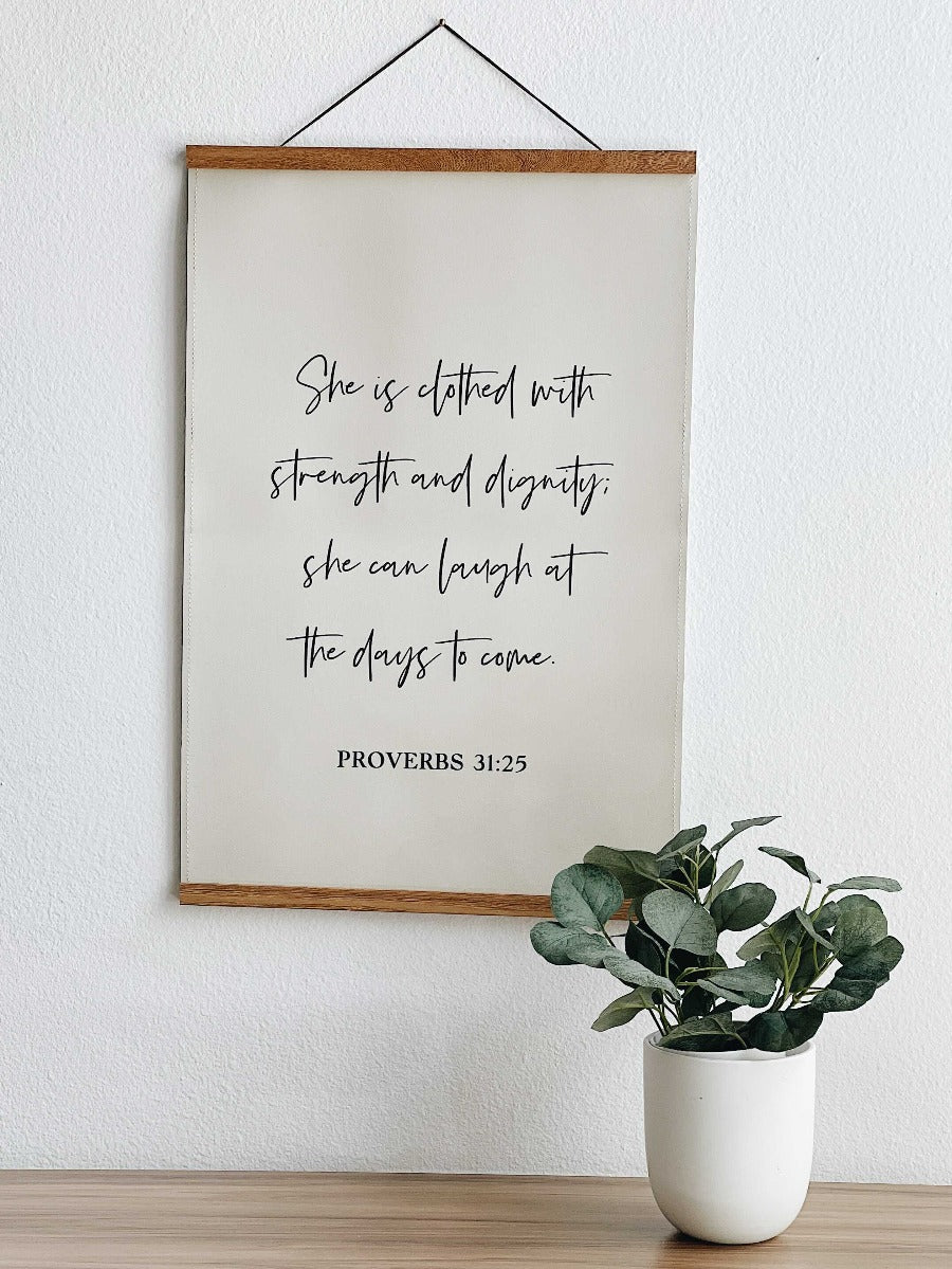 Proverbs 31:25-30 - LEATHER POSTERS