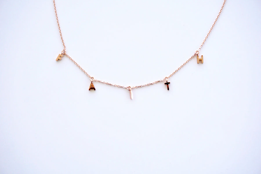 F-A-I-T-H  IT Necklace