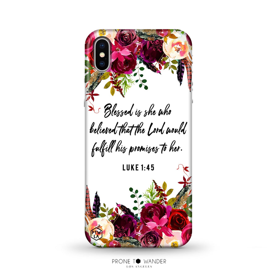 M281 - BLESSED IS SHE WHO BELIEVED - Bible Verse Christian Quote TPU Phone Covers
