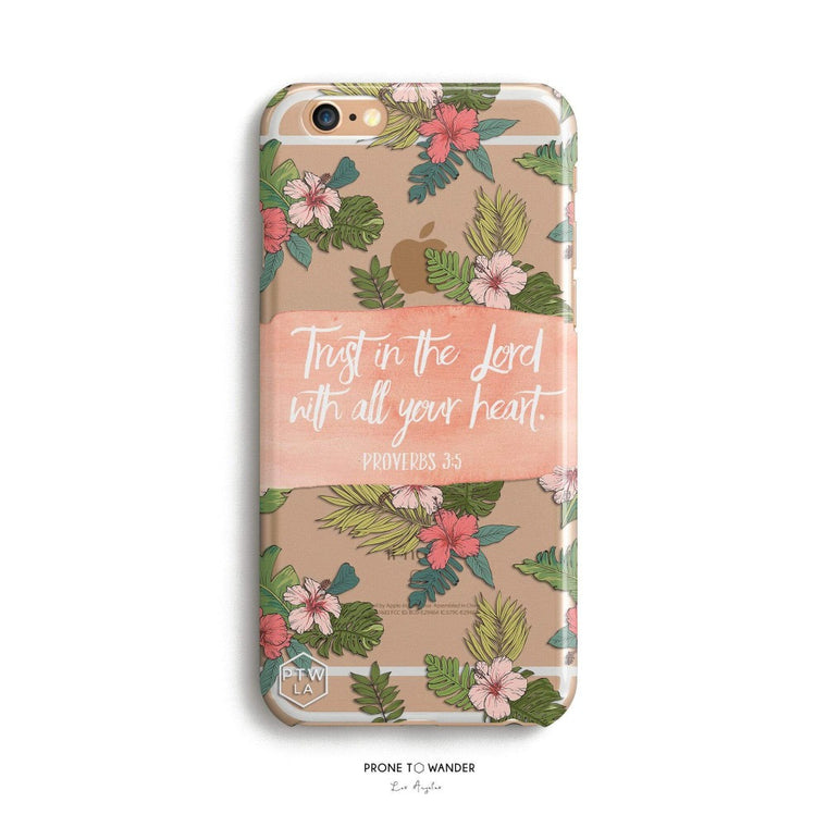 H159 - TRUST IN THE LORD - PROVERBS 3:5 - Bible Verse Phone Case for iPhone Cover