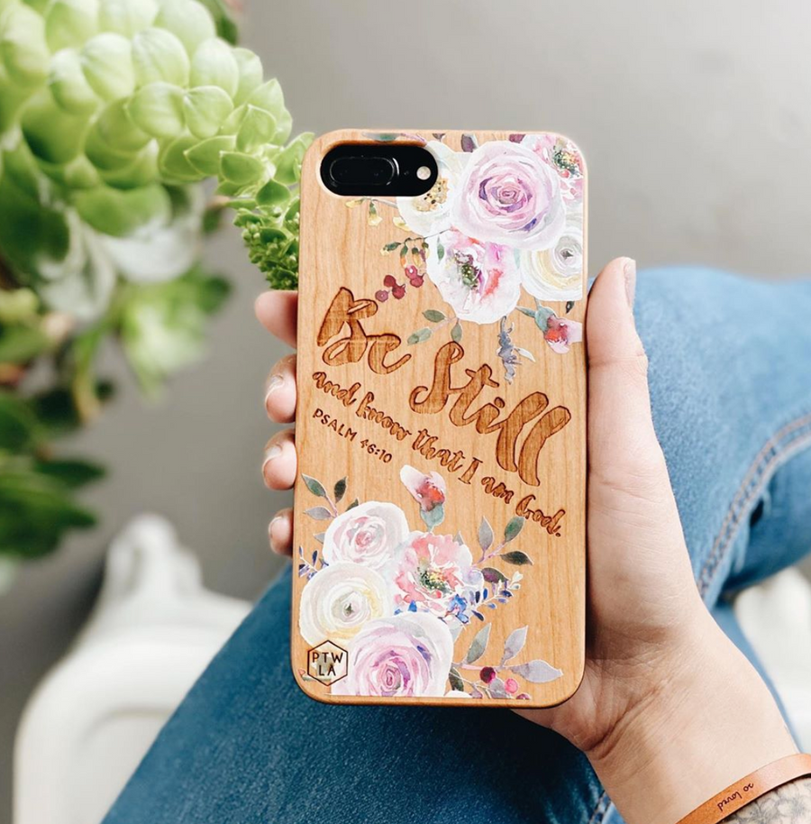 LE228 - BE STILL AND KNOW THAT I AM GOD - Special Edition Wood Phone Case