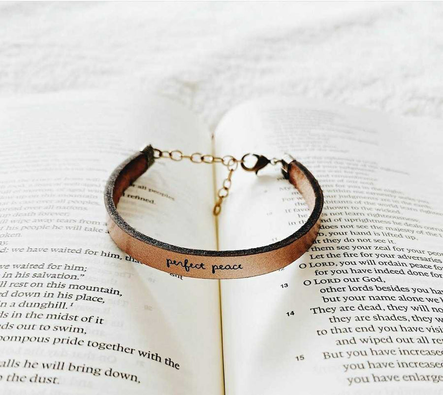 PERFECT PEACE - Leather Bracelet