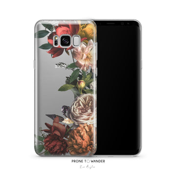 VINTAGE FOLIAGE- Clear Samsung Phone Case
