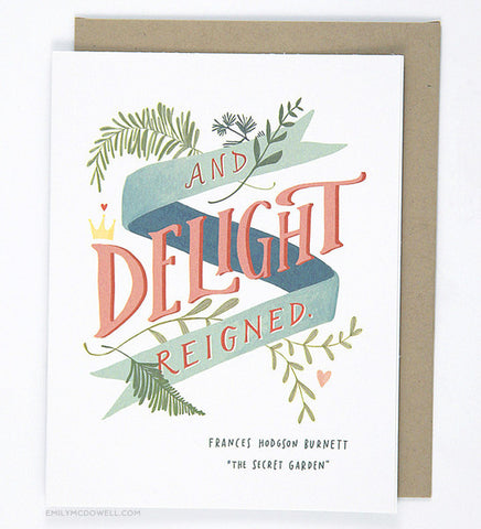 And Delight Reigned Card