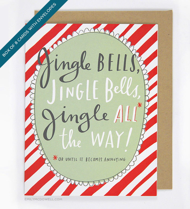 Jingle Bells Card - Box of 8