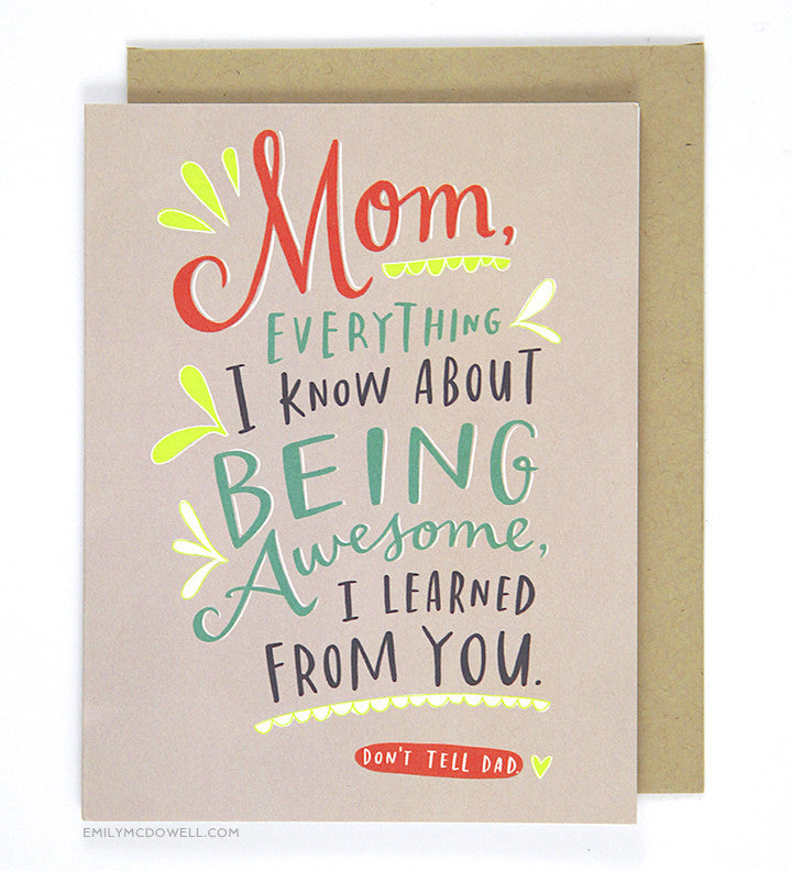 Awesome Mother's Day Card