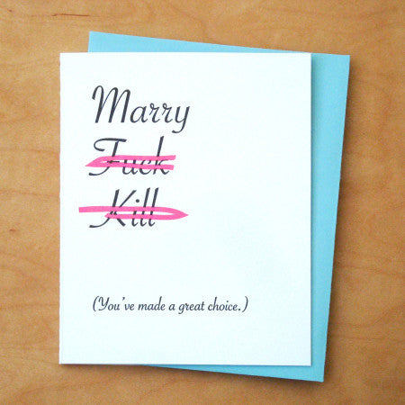 Marry Choice Card