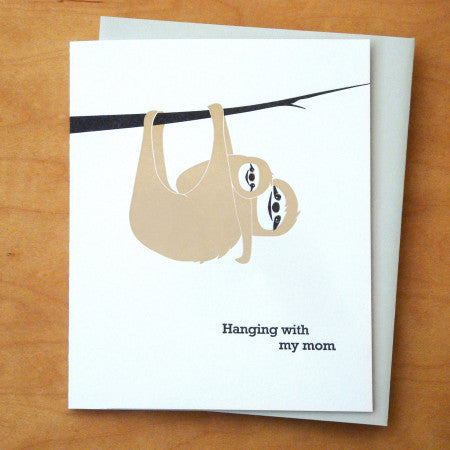 Sloth Mom Card
