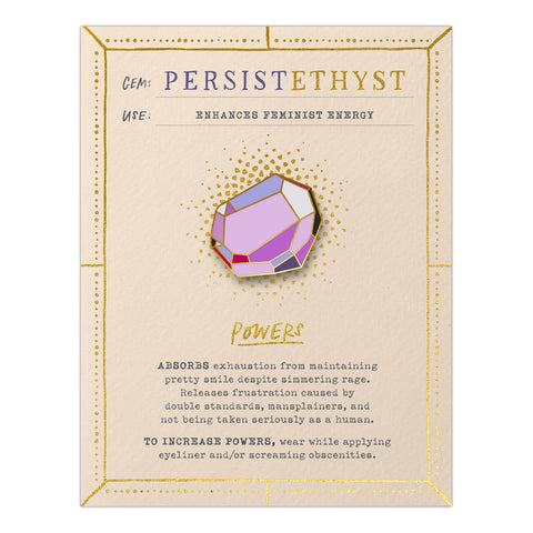 Persistethyst Gem Card w/ Pin