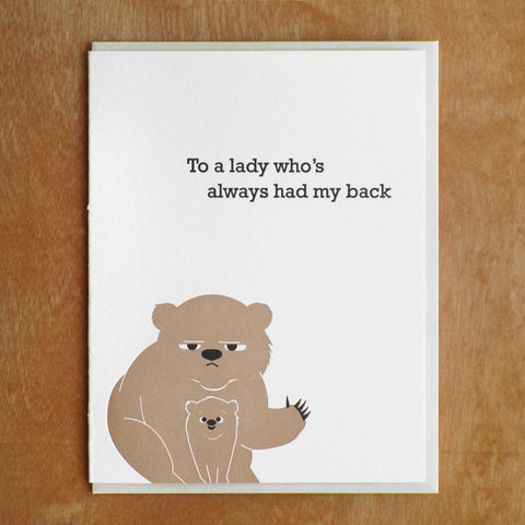 Bear Mom Card