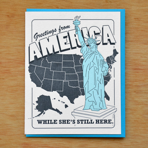Greetings from America Card
