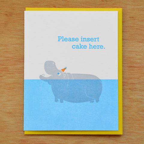 Birthday Hippo Card
