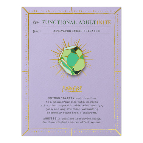 Functional Adultinite Gem Card w/ Pin