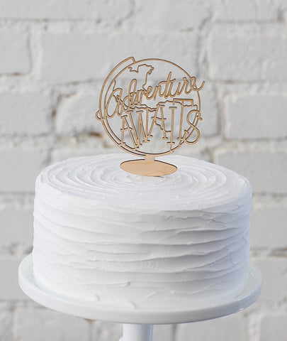 Adventure Awaits Cake Topper