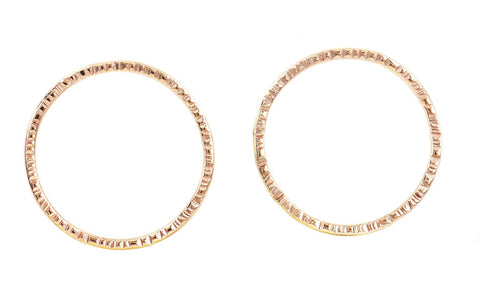 Anita Rose Gold Circle Earrings