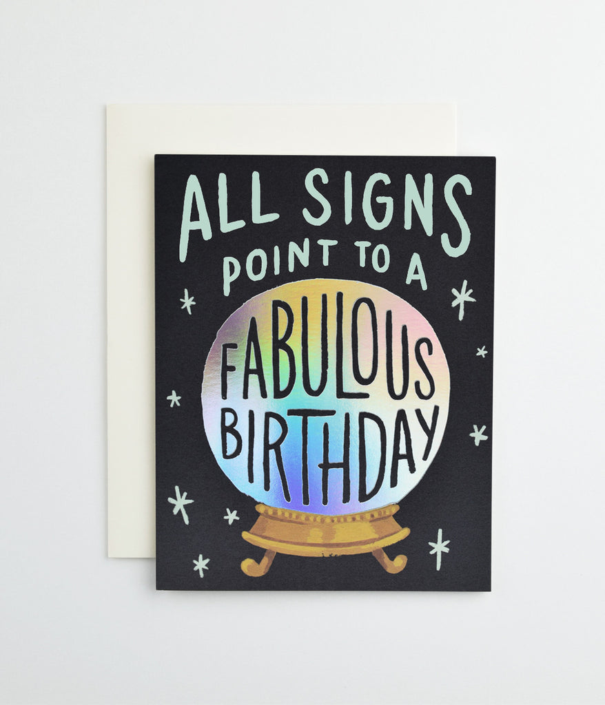 Fabulous Birthday Signs Card