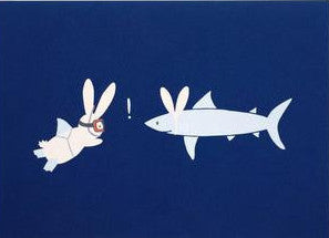 Shark and Bunny Art Print