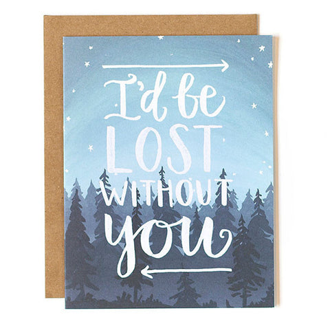 Lost Without You Card