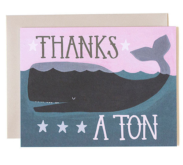 Whale Thanks Card