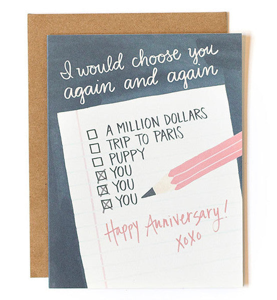Anniversary Note Card