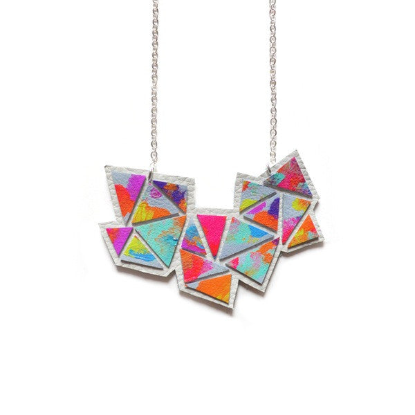 Geometric Leather Pendant
