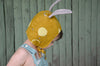 Bonnet with Removable Ears - Nani Iro Golden