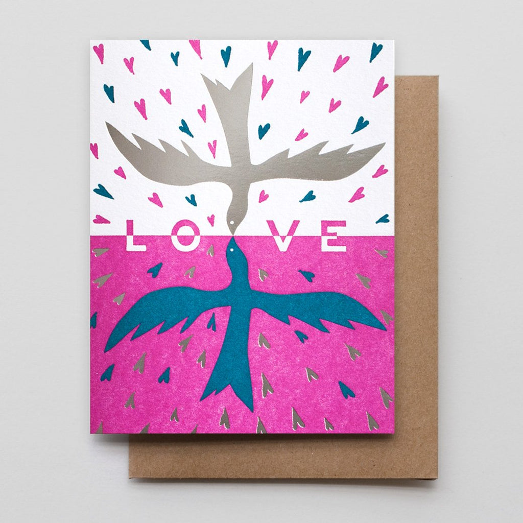 Birds in Love Card
