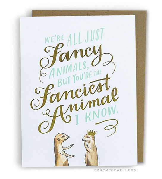 Fancy Animal Card