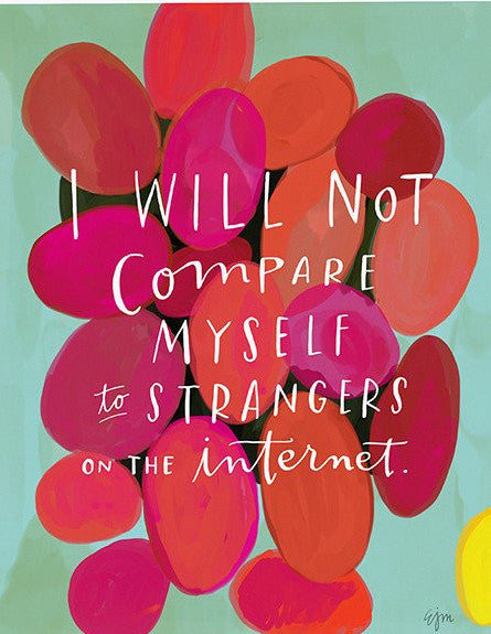 Strangers on the Internet Print